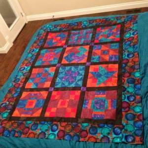 A happy sampler quilt top - you can learn to do this too!